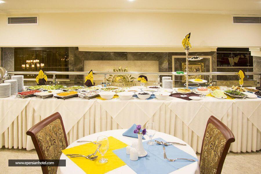 هتل ایران زمین مشهد رستوران