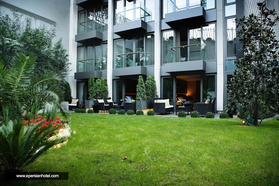 هتل گزی بسفروس استانبول فضای سبز