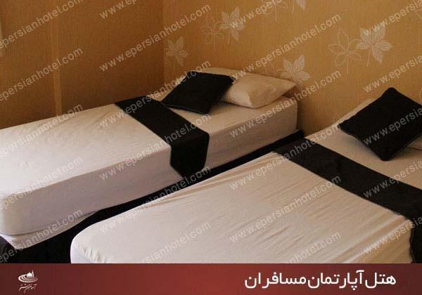 هتل آپارتمان مسافران مشهد اتاق دو تخته