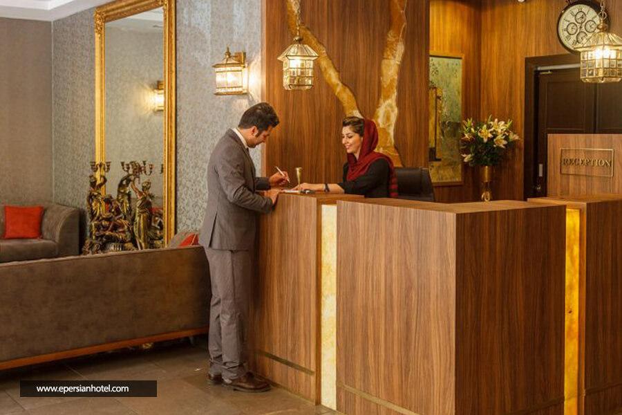 هتل بوتیک طوبی تهران پذیرش