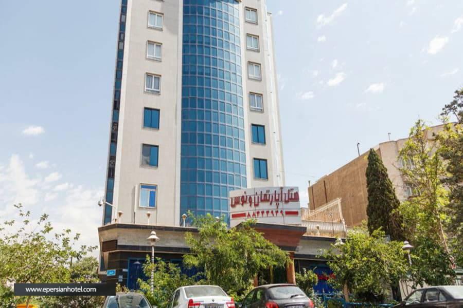 هتل آپارتمان ونوس تهران نمای هتل