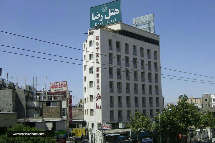 هتل رضا مشهد نمای بیرونی