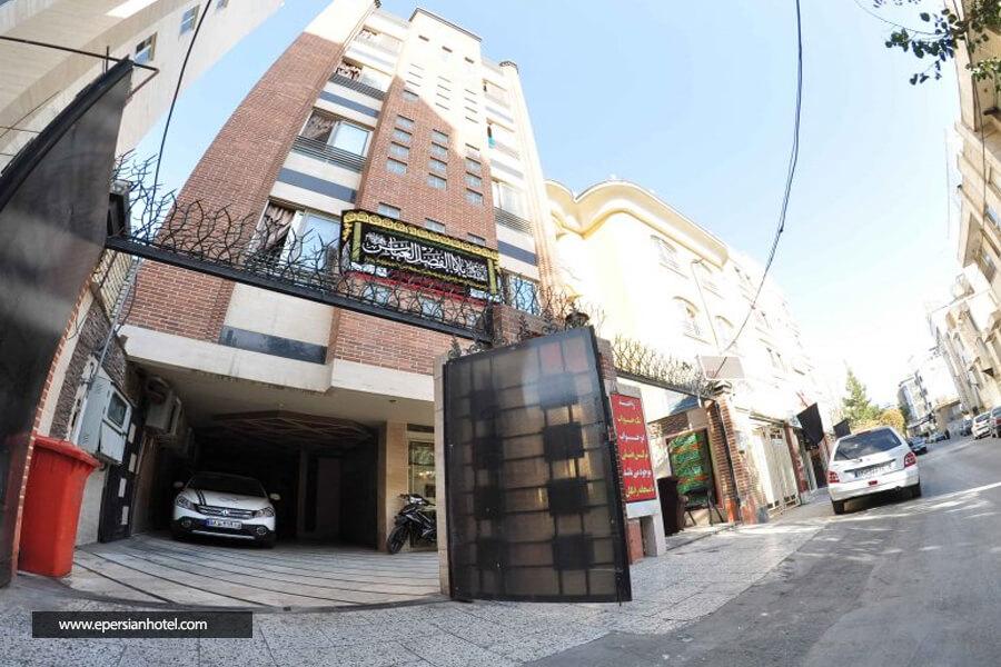 هتل آپارتمان رضایی مشهد نما ساختمان