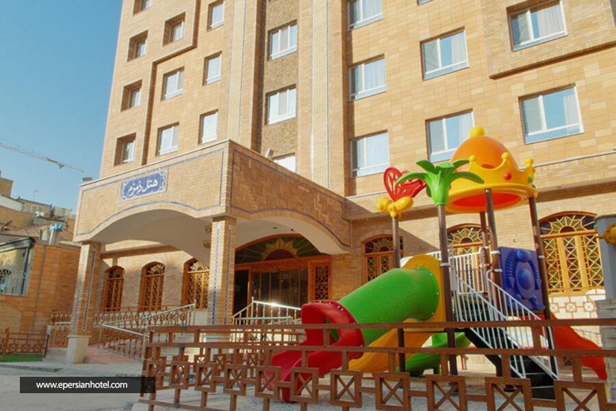 هتل آپارتمان زمزم مشهد نمای بیرونی