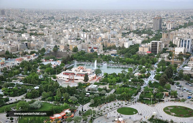 شهر مشهد از نمای بالا