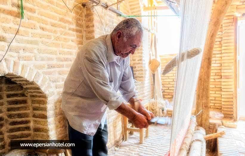 قالی بافی یزد