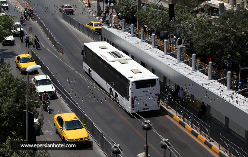 اتوبوس سامانه بسیار عالی در مشهد