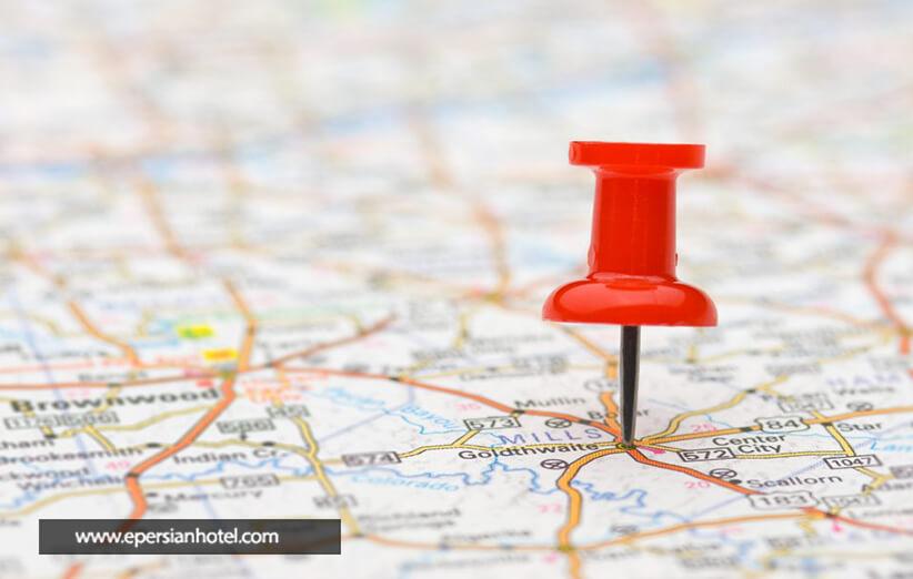 موقعیت مکانی هتل های مشهد