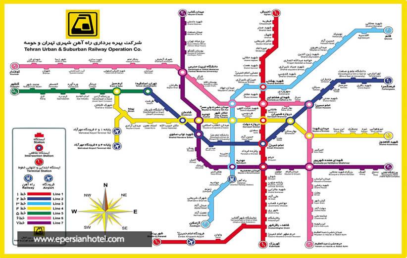 خطوط مترو تهران