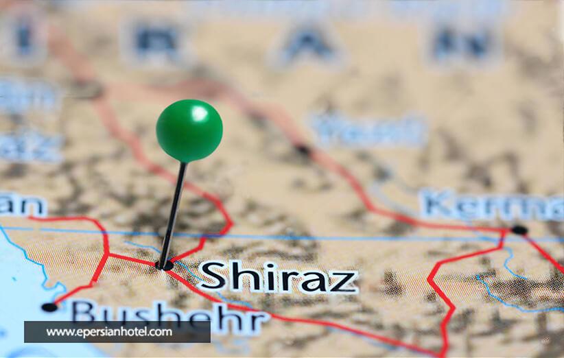 هتل های شیراز بر اساس لوکیشن