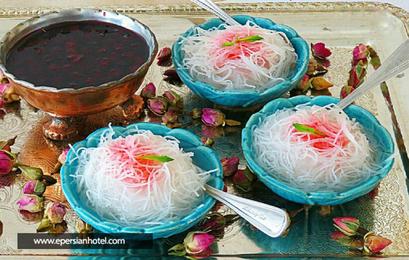 فالوده شیرازی محبوب ترین خوراکی
